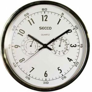 Nástenné hodiny SECCO S TS6055 30 cm č/b