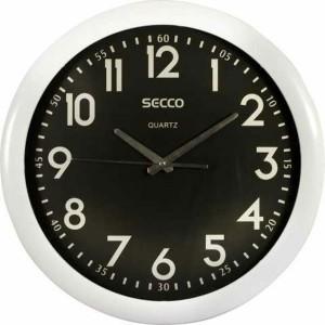 Nástenné hodiny SECCO S TS6007 40cm b/č