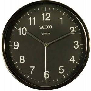 Nástenné hodiny SECCO S TS6050 20cm čierne