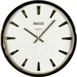 Nástenné hodiny SECCO S TS6017 30 cm č/b