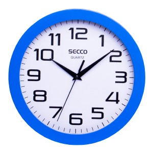 Nástenné hodiny SECCO TS6018-27 25 cm modré