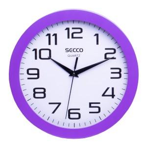 Nástenné hodiny SECCO TS6018-67  25cm fialové