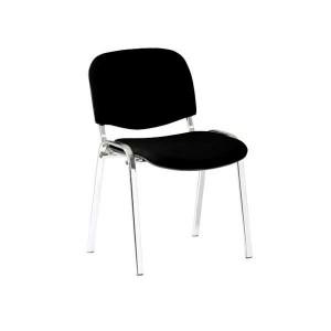 Rokovacia stolička Leda-Cr čierna