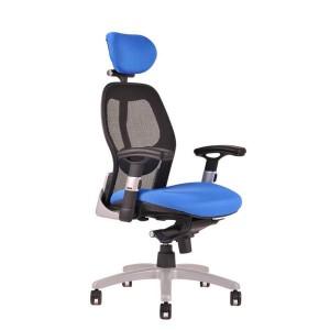 Kancelárske kreslo SATURN NET-modrá