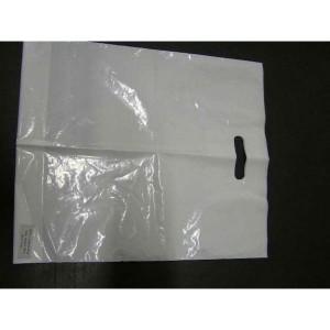 Taška LDPE s výsekom 45x55 cm biela