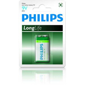 Batéria Philips Longlife 9V 6F22  ph9VLL