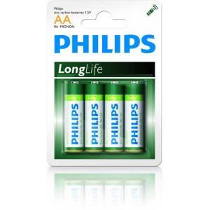 Batéria Philips Longlife AA R6 / 4ks  phR6LL