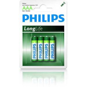 Batéria Philips Longlife AAA 1,5V R03 / 4ks  phR03LL