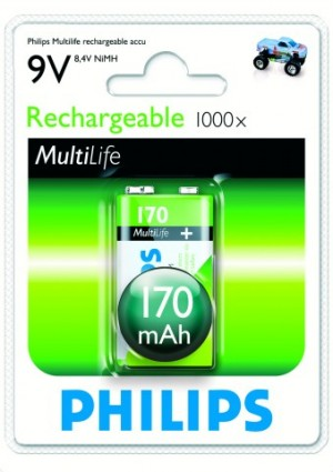 Batéria Philips 9 V/170 mAh NiMH  ph9VN