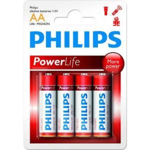 Batéria Philips PowerLife AA R6 / 4ks  phR6PL