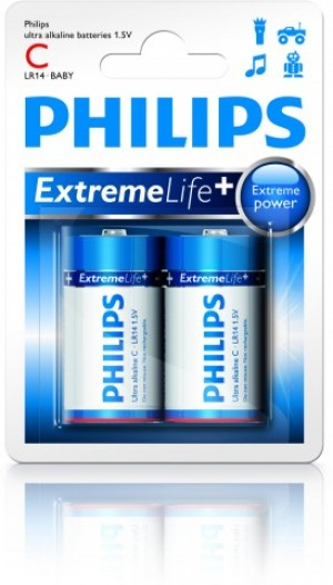 Batéria Philips ExtremeLife C (LR14) 1,5 V / 2ks  phLR14EL