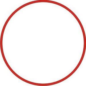 Gumičky červené silné (4 mm, ? 8 cm) [1 kg]