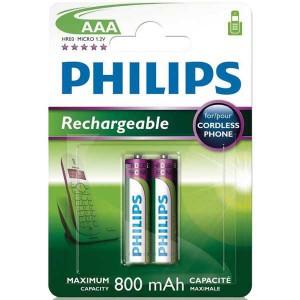 Batéria Philips AAA (R03) 1,2 V/800 mAh NiMH