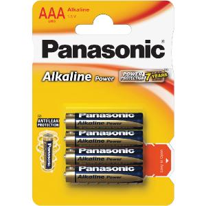 Batéria PANASONIC LR03 4BP AAA Alk Power alk