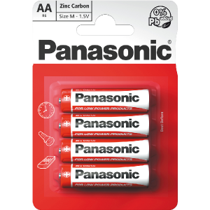 Batéria PANASONIC R6 4BP AA Red zn /4ks