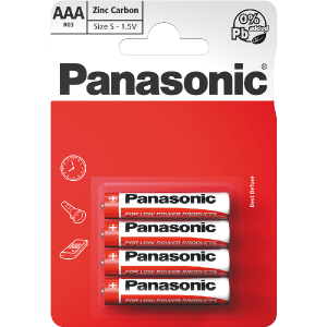 Batéria PANASONIC R03 4BP AAA Red zn