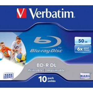 BD-R Verbatim DL 50GB 6x Jewel case - printable