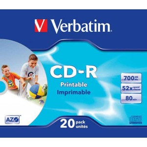 CD-R Verbatim 700MB 52x Printable slim box  ve43424 NEDOSTUPNÉ