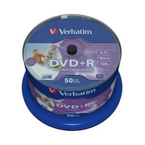 DVD+R Verbatim 4.7GB, 12cm, Professional, Advanced Azo+, Wide Printable