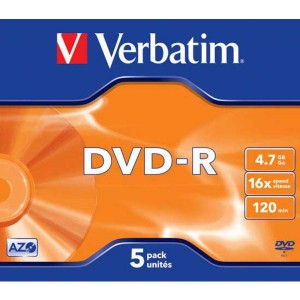 DVD-R Verbatim 4,7GB 16x jewel box  ve43519