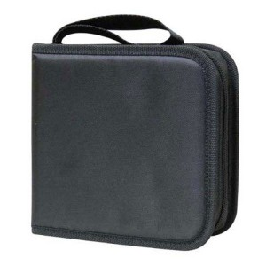 Box na 40 ks CD, textil, čierna, album, zips  lo18718