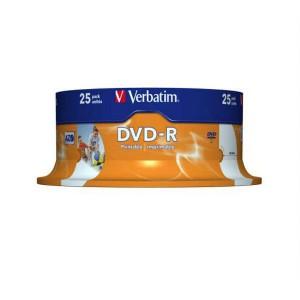 DVD-R Verbatim 4,7GB 16x Printable 25ks ake box  ve43538
