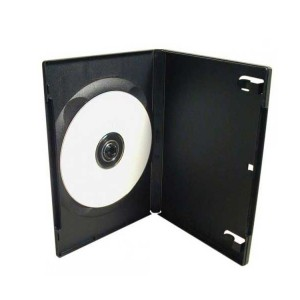 Box na 1 ks DVD, čierny, 14mm  gd2543