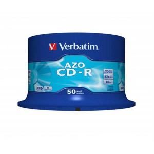 CD-R Verbatim 700MB 52x, 50-pack Crystal - Cake box