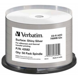 CD-R Verbatim 700MB 52x Shiny Silver AZO 50-pack cake box