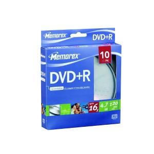 DVD+R Memorex 10 ks cake 16x 4,7 GB