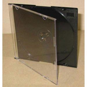 Box na 1 ks CD, čierny, slim tenký, 5,2mm
