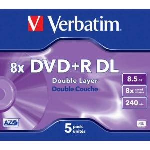 DVD+R Verbatim 8,5GB DL 8x jewel case  ve43541