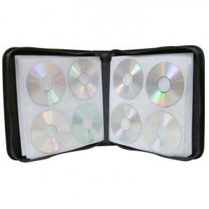 Box na 160 ks CD, textil, čierny, album, zips