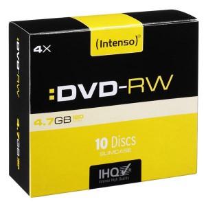 DVD-RW Intenso 4x 4201632, 4.7GB, 12cm, Standard, slim, 10-pack