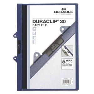 Podložka s klipom Durable PVC tmavomodrá