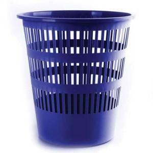 Kôš na papier rebrovaný 12 l modrý