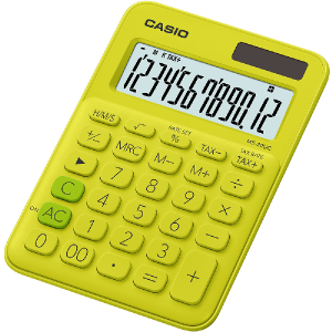 Kalkulačka Casio MS 20 UC YG žlté
