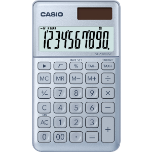 Kalkulačka Casio SL 1000 SC BU strieborná