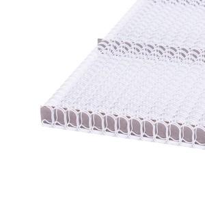 Drôtový hrebeň , 11,1mm, 3:1, 34 otvorov, biela  dh1100