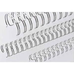 Drôtový hrebeň , 22mm, 2,1 23 otvorov, strieborná / 50ks