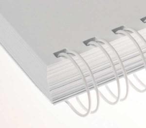 Drôtový hrebeň , 9,5mm, 2,1 23 otvorov, biela / 100ks  dh09500