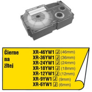 Páska Casio 24mm čierne / žltá