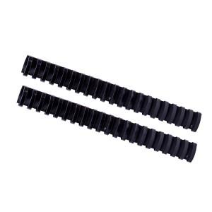 Plastový hrebeň 32mm, čierna hr3201