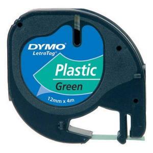 Páska do Dymo Letra Tag 12mmx4m plastová zelená