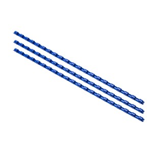 Plastový hrebeň 6mm, modrá  hr0603