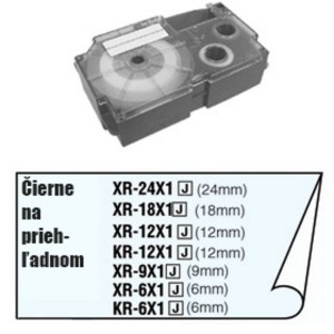 Páska Casio 18mm čierne / priehľadná