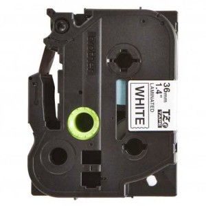 Páska TZ-261 36mm biela/čierne