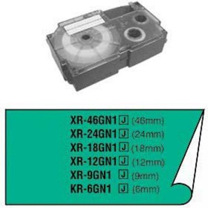 Páska Casio 9mm čierne / zelená