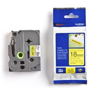 Páska BROTHER TZS641 čierne písmo, žltá páska extra lepivá ADHESIVE Tape (18mm)