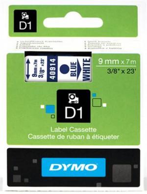 Páska Dymo S0720690 9mmx7m D1 biela-modrá 40914